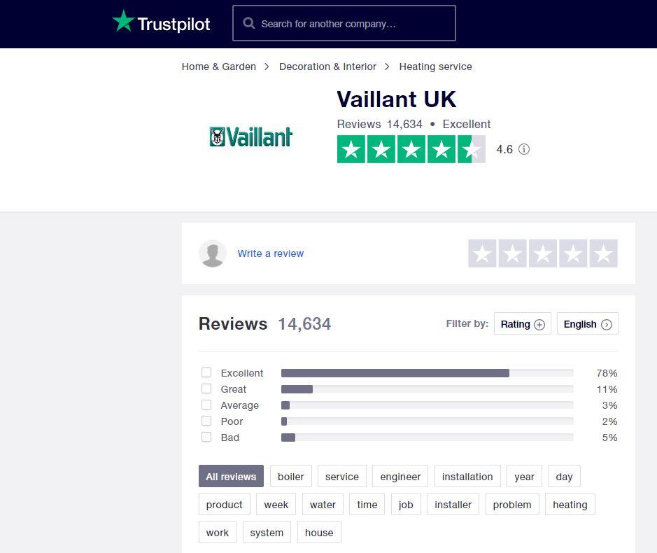 Vaillant boilers - Trustpilot reviews