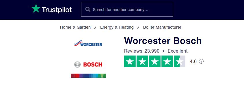 Worcester Bosch boilers - Trustpilot review